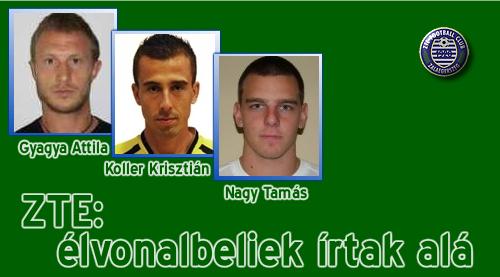 Három új játékos a Zete keretében