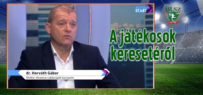 Dr. Horváth Gábor a Digi Sport reggeli műsorában