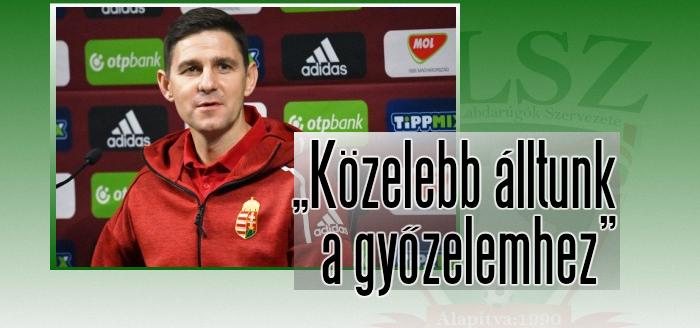 Gera Zoltán értékeli a döntetlent
