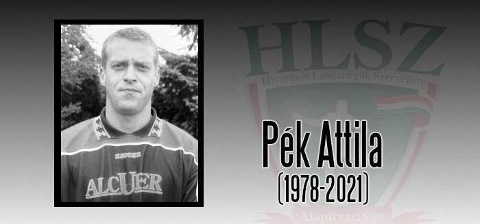 Elhunyt Pék Attila