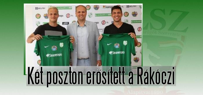 Csiki Norbert és Tóth Gergely aláírt