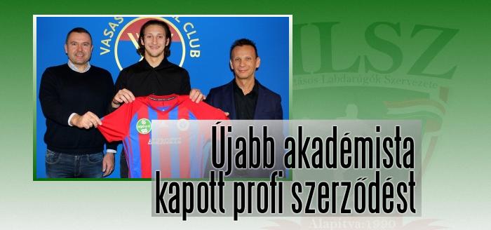 Nagy Zoárd mától a Vasas FC hivatásos labdarúgója